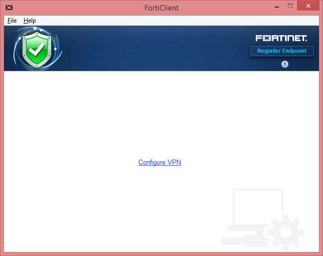 FortiClient VPN Window