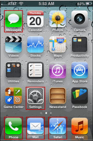 iOS screenshot 1